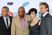 Theo Rossi, Paris Barclay, Maggie Siff and Charlie Hunnam at the