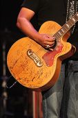 Close-up of Jamey Johnson's guitar at the 7th Annual ACM Honors, Ryman Auditorium, Nashville, TN 09-10-13