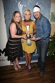 Ashlee Hewitt, Lorrie Morgan and Jesse Keith Whitley at the 7th Annual ACM Honors, Ryman Auditorium, Nashville, TN 09-10-13
