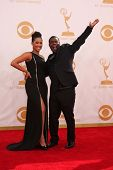 Tracy Morgan and Sabina Morgan at the 65th Annual Primetime Emmy Awards Arrivals, Nokia Theater, Los