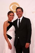 Seth Meyers and wife Alexi Ashe at the 65th Annual Primetime Emmy Awards Arrivals, Nokia Theater, Lo