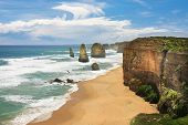 picture of 12 apostles  - 12 Apostles on the Great Ocean road in Victoria - JPG