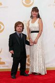 Peter Dinklage and wife Erica Schmidt at the 65th Annual Primetime Emmy Awards Arrivals, Nokia Theat