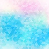stock photo of low-light  - Colorful abstract geometric background with triangular polygons  - JPG
