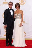 Harry Hamlin and Lisa Rinna at the 65th Annual Primetime Emmy Awards Arrivals, Nokia Theater, Los An