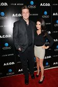 Nathan Fillion and Mikaela Hoover at the