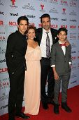 Justina Machado, Fabrizio Guido, Ricardo A. Chavira and Joseph Haro at the 2013 NCLR ALMA Awards Pre