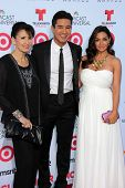 Mario Lopez with mother and wife at the 2013 NCLR ALMA Awards Arrivals, Pasadena Civic Auditorium, Pasadena, CA 09-27-13