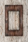 Aged Wooden Frame On The Old Wood