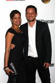 Justin Chambers and Keisha Chambers at the