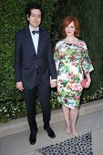 Geoffrey Arend and Christina Hendricks at The Rape Foundation's Annual Brunch, Private Location, Bev