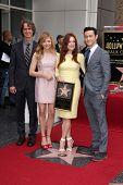 Jay Roach, Chloe Grace Moretz, Julianne Moore and Joseph Gordon-Levitt at Julianne Moore's Star on the Hollywood Walk of Fame Ceremony, Hollywood Walk of Fame, Hollywood, CA 10-03-13