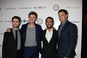 Daniel Radcliffe, Dane DeHaan, John Krokidas and Michael C. Hall  at the