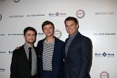 Daniel Radcliffe, Dane DeHaan and Michael C. Hall at the