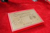 Sandra Bullock's hand and footprint at the Sandra Bullock Hand And Footprint Ceremony, Chinese Theat