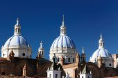 Ecuador, View On The Domed Cathedral In Cuenca City