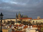 View over Prague from Charles Bridge