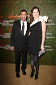 Geena Davis and Reza Jarrahy at the Wallis Annenberg Center For The Performing Arts Inaugural Gala, Wallis Annenberg Center For The Performing Arts, Beverly Hills, CA 10-17-13