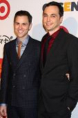 Todd Spiewak and Jim Parsons at the 2013 GLSEN Awards, Beverly Hills Hotel, Beverly Hills, CA 10-18-