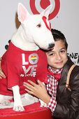 J J Totah and Bullseye at the 2013 GLSEN Awards, Beverly Hills Hotel, Beverly Hills, CA 10-18-13