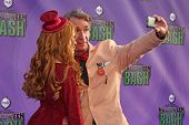 Katherine McNamara and Bill Nye at the Hub Network First Annual Halloween Bash. Barker Hangar, Santa