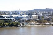Brisbane Southbank Parklands arial view