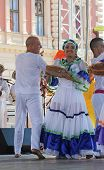 ZAGREB,CROATIA - JULY 17: Members of folk group Colombia Folklore Foundation from Santiago de Cali,