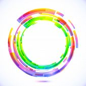Rainbow colors abstract vector circle frame