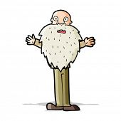 cartoon bearded old man