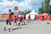 Perm, Russia - Jun 13, 2013: Youth Basketball Tournament At Festival White Nights.