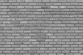 Gray Brick Wall For Pattern,background And Design