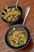 stock photo of steamy  - Two bowls of steamy traditional oriental soup - JPG