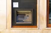 picture of automatic teller machine  - Automated teller machine cash point bank terminal - JPG