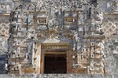 picture of quadrangles  - Detail of a wall in the Nunnery Quadrangle Uxmal Mexico