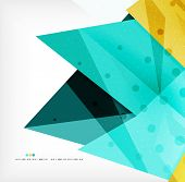 Abstract sharp angles background - business brochure layout