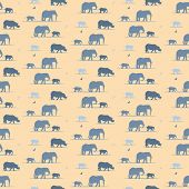elephants and rhino wallpaper pattern