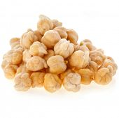 chick-peas heap isolated on white background