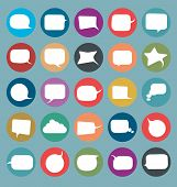set of flat comics style speech bubbles icons