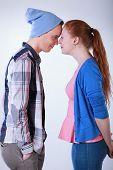 Teenagers Couple Standing