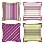 picture of pillowcase  - Set of four matching decorative pillows patterned pillowcase  - JPG