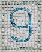 Rustic Number Nine Mosaic