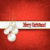 Abstract Celebration Greeting With Christmas Decorations