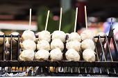 Thai Meat Ball With Bamboo Stick