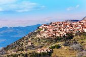 The landscape of Arachova town