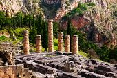 Ruined temple in Delphi