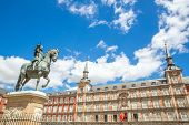 Plaza Mayor in Madrid , Spain