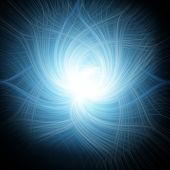 Abstract Blue Spiral Over Dark Background