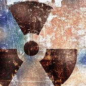 Sign Of Radiation On Grunge Background