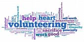 picture of word charity  - Volunteering issues and concepts word cloud illustration - JPG