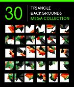 Huge mega collection of 30 geometric shape abstract backgrounds